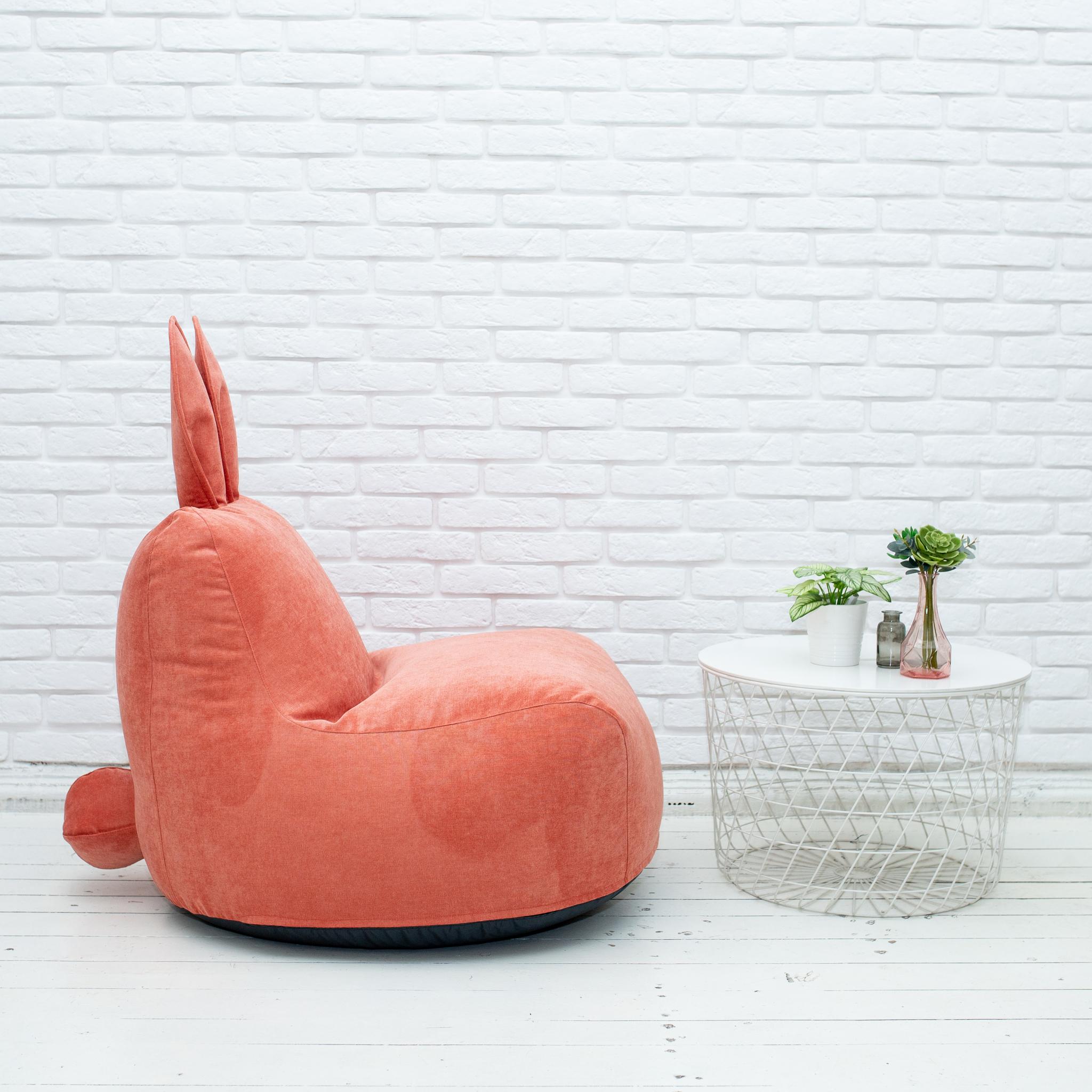 Кролик M микровельвет (тёмно-персиковый)