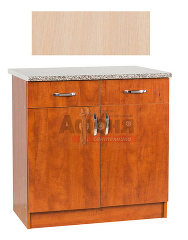 Рабочий стол  80 цвет дуб млечный (2 ящика),стол. ГРАНИТ (ЛДСП)