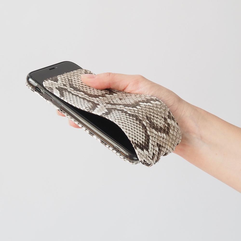 Чехол для iPhone XR из натуральной кожи питона, цвета Natur