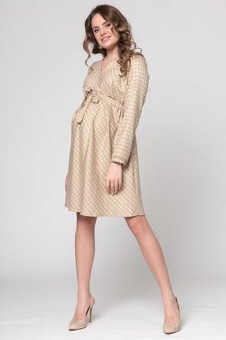 Платье для беременных 05700 бежевый