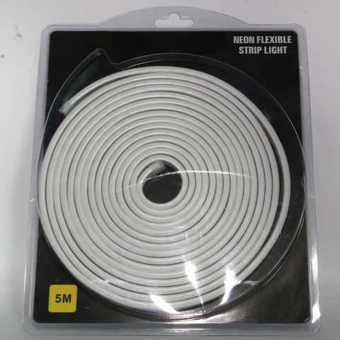 Гибкий неон Белый, 5х12 мм, SMD2835/120, 12 Вольт, Силикон
