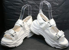 Женские спортивные босоножки Small Swan PM23-3 White.