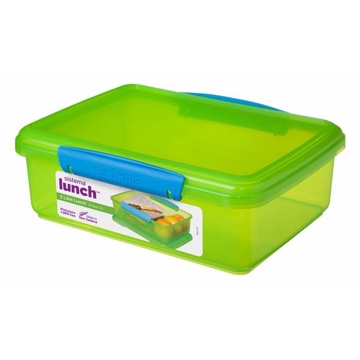 """Контейнер пищевой Sistema """"Lunch"""" 2 л, цвет Зеленый"""
