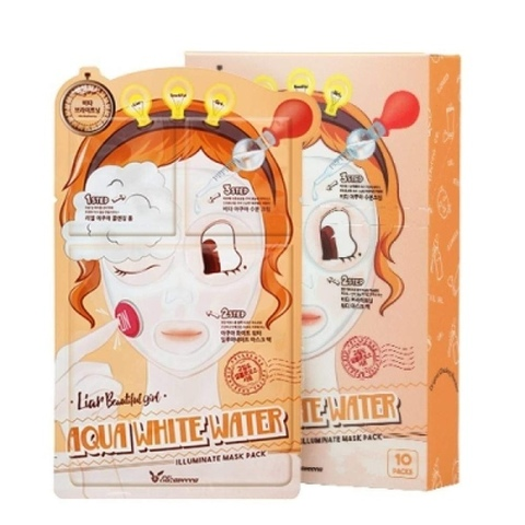 Elizavecca 3-ступенчатая маска для увлажнения 3-Step Aqua White Water Illuminate Mask Sheet, 1 шт