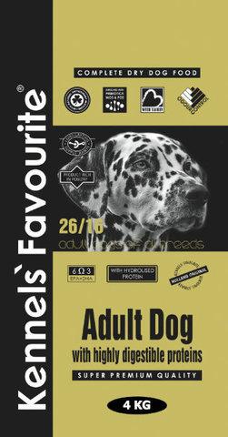 Сухой корм KENNELS` FAVOURITE DOG ADULT для взрослых собак всех пород с индейкой 20 кг.