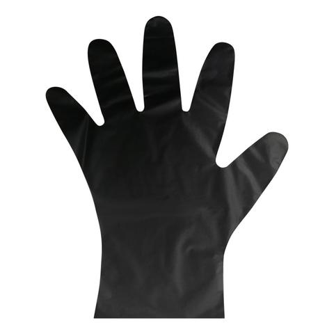 Перчатки одноразовые ТПЭ AVIORA цв. черный (402-883) 100 шт/уп р.М