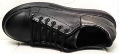 Кожаные кроссовки женские демисезонные EVA collection 0721 All Black.