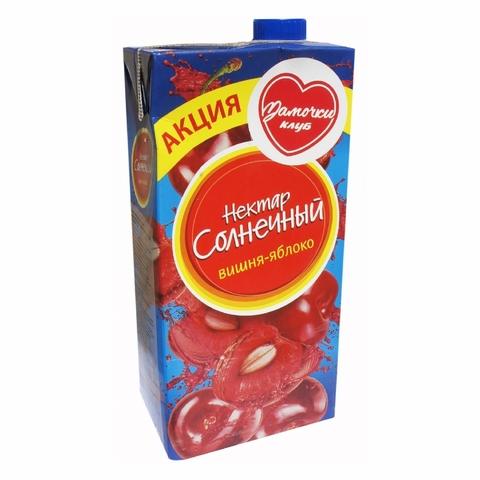 Напиток НЕКТАР СОЛНЕЧНЫЙ Вишня Яблоко 0,95 л т/п КАЗАХСТАН