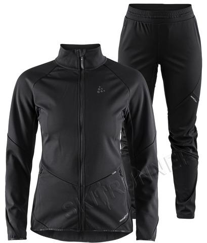 Элитный костюм для бега  и лыж Craft Glide Black женский