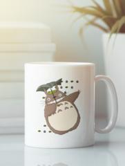 Кружка с рисунком из мультфильма Мой сосед Тоторо (Totoro) белая 009