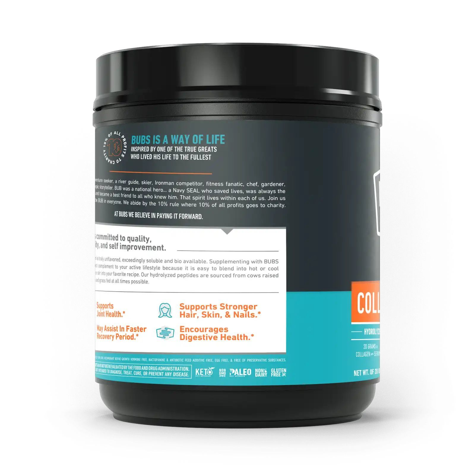 Коллагеновый протеин, Bubs Naturals, Collagen Protein, NSF certificate (567g)-3