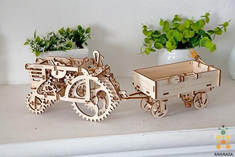 Трактор + Прицеп к трактору (Ugears)