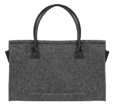 Войлочная сумка Gmakin Berry черная с черным кожзамом