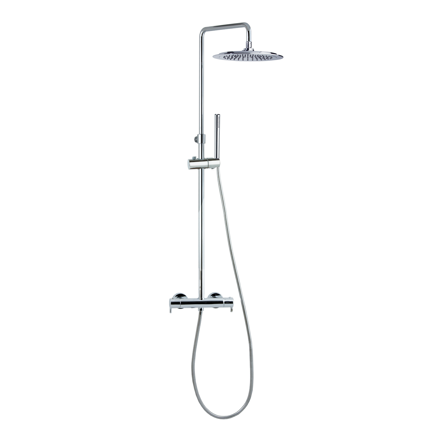 Душевая система с термостатом и тропическим душем для ванны DRAKO 334803RP300