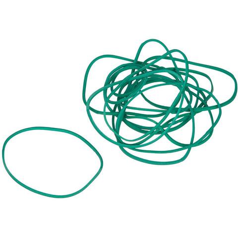 Резинка банковская универсальная 500 г (диаметр 60 мм, толщина 1.5 мм, зеленая)
