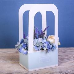 Коробка-переноска для цветов «Счастье ждет тебя»
