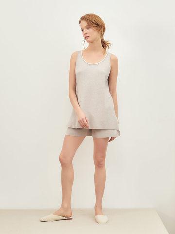 Женские шорты светло-кофейного цвета из вискозы - фото 2