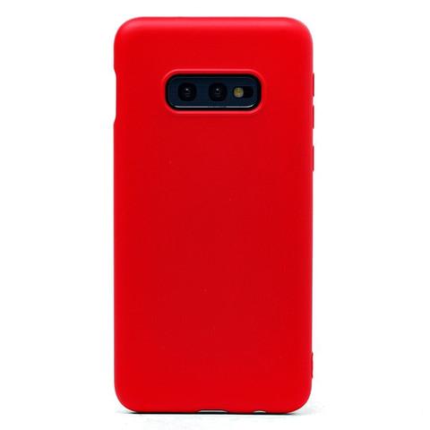 Чехол для Samsung (G970) Galaxy S10e Софт тач мягкий эффект | микрофибра красный