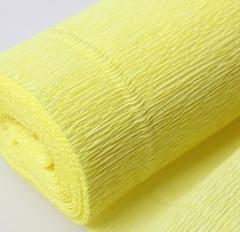 Гофрированная бумага однотонная. Цвет 574 желтый, 180 г