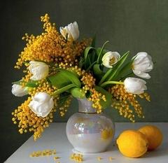 Картина раскраска по номерам 40x50 Натюрморт с лимонами