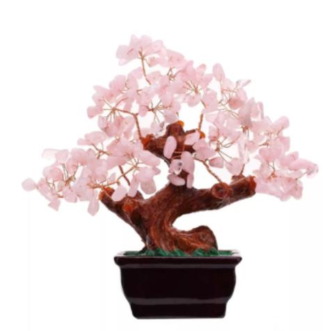 Денежное Дерево розовый кварц