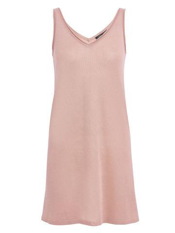 Женское платье цвета нюд из вискозы - фото 1