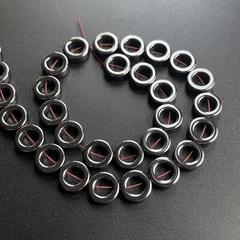 Бусины гематит кольцо 12 мм