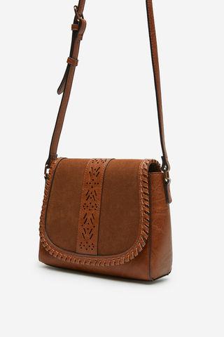 Комбинированная сумка через плечо
