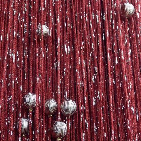 Кисея дождь с шарами - бордовая. Ш-300см., В-280см. Арт.4