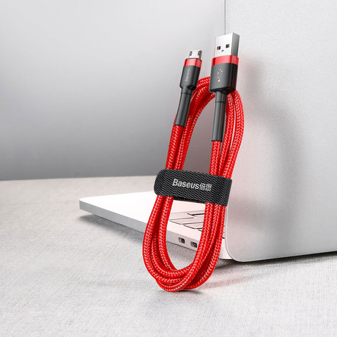 Кабель Baseus cafule Cable USB For Micro 2.4A 1M Red+Red