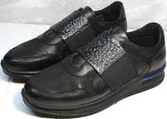 Черные сникерсы мужские Luciano Bellini 1087 All Black