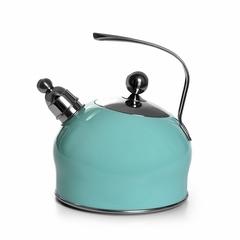 5962 FISSMAN Чайник со свистком для кипячения воды PALOMA 2,5л, цвет АКВАМАРИН (нерж.сталь)