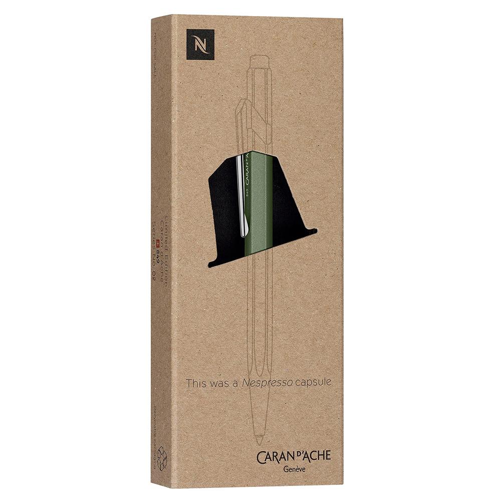 Carandache Office 849 Nespresso Edition 2 - Green India, шариковая ручка, M