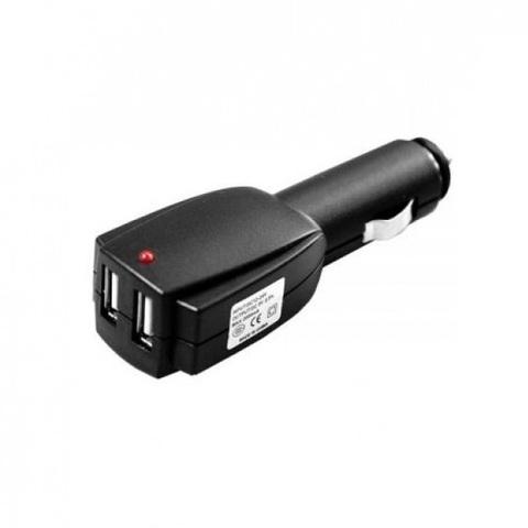 Автозарядка в прикуриватель 2 х USB (5V - 1 A)