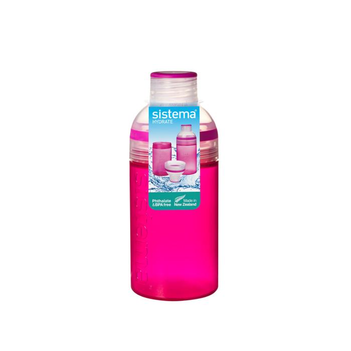 """Бутылка для воды Sistema """"Hydrate"""" 480 мл, цвет Розовый"""