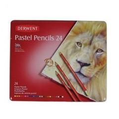 Набор карандашей пастельных 24 штуки металлическая коробка Pastel