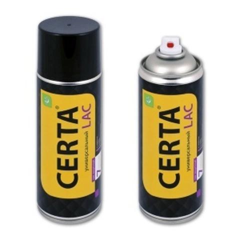 Термостойкий защитный лак CERTA «7 в 1» для металла, дерева, камня, аэрозоль, 520 мл