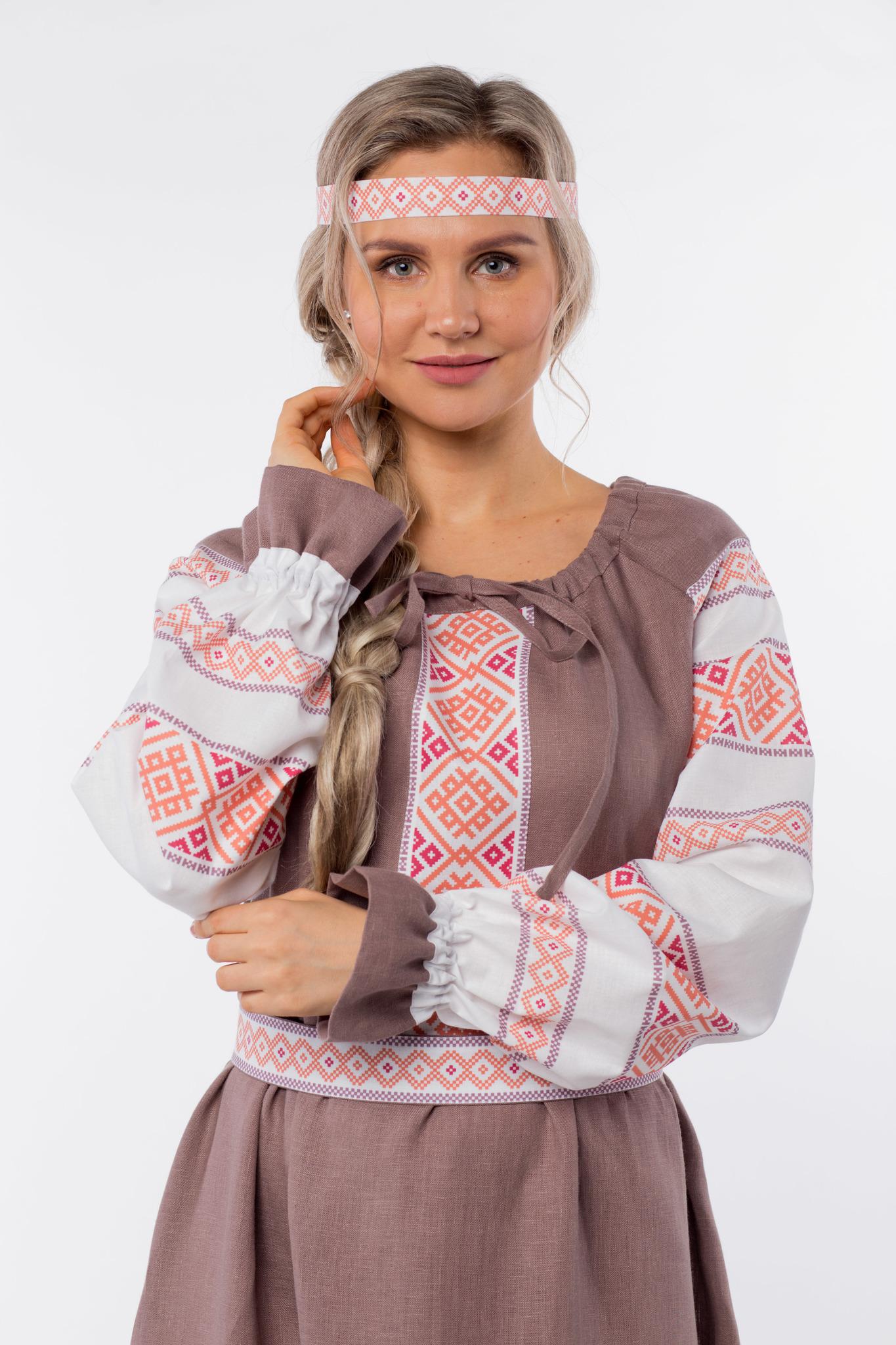 Платье льняное Родные берега приближенный фрагмент