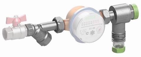 Фильтрогидромат с обратным клапаном для подключения счетчика 1/2 25 бар 400мкм 1-150   С*