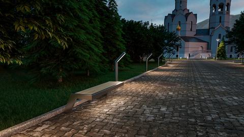 Скамья АВЕНЮ с подсветкой
