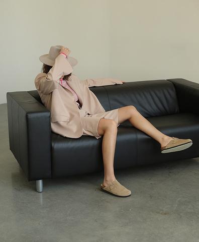 Пиджачный костюм мужского кроя