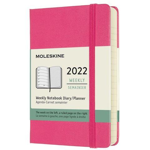 Еженедельник Moleskine (DHD1312WN2) Classic WKNT Pocket 90x140мм 144стр. фуксия