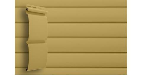 """Виниловый сайдинг Гранд Лайн блок хаус 3.0 D 4,8"""" карамельный"""