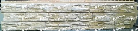Фасадная панель Гранд Лайн Я-ФАСАД Скала Слоновая кость 1535х345 мм