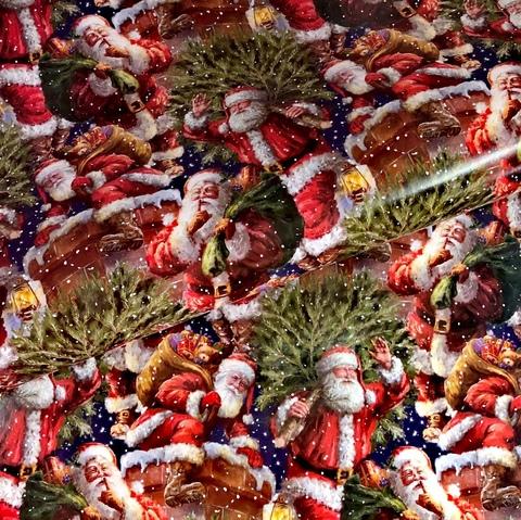 Бумага подарочная упаковочная Санта идёт! (Италия)