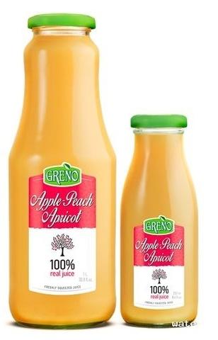 Сок 100% свежевыж. яблоко, персик, абрикос, 1л.