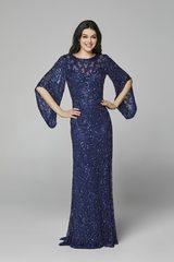 Платье в пол вышитое бисером Goddess 215