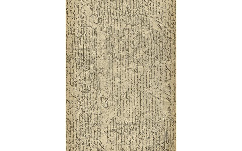Рисовая бумага для декупажа Рукопись, А3