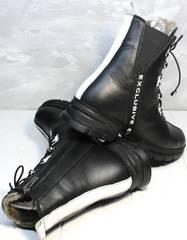 Молодежные ботинки для девушек зимние Ripka 3481 Black-White.