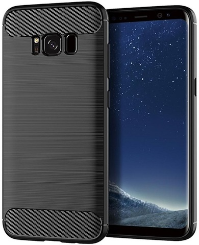 Чехол для Samsung Galaxy S8 Plus цвет Black (черный), серия Carbon от Caseport